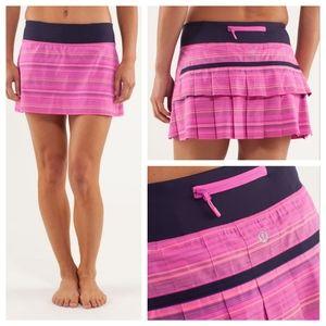 Lululemon Run: Pace Setter Skirt , Pink, Sz. 4